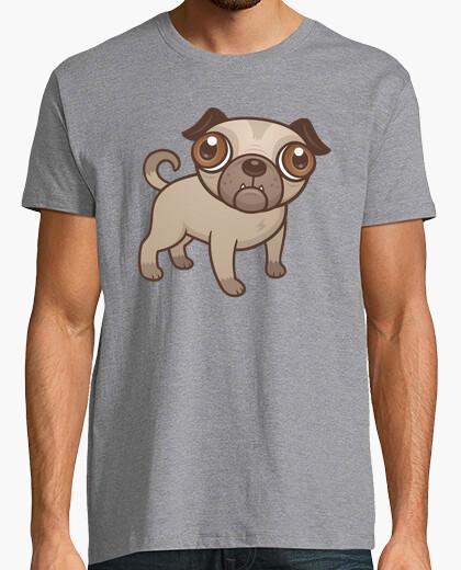 Camiseta perrito del barro amasado de la historieta