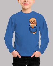 perrito del labradoodle del bolsillo - camisa de los niños