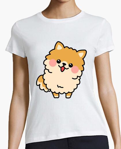Camiseta Perrito Pomerania Kawaii