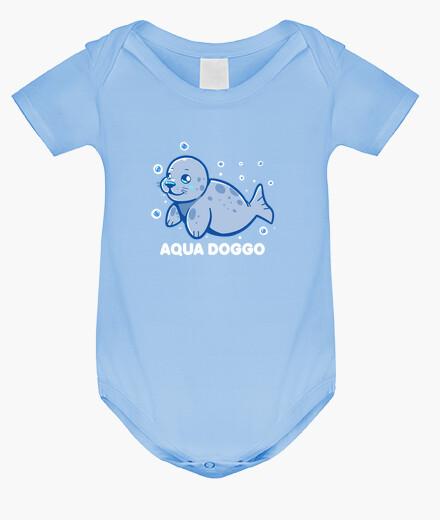 Ropa infantil perro acuático - sello divertido