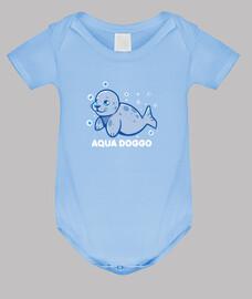 perro acuático - sello divertido