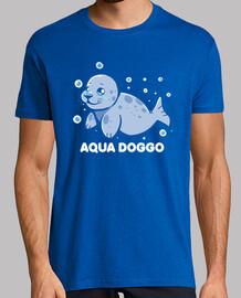 perro acuático - sello divertido - camisa para hombre