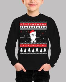 Perro Bobtail Ugly Navidad