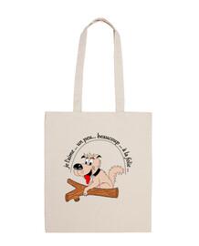 perro bolsa de fb locura
