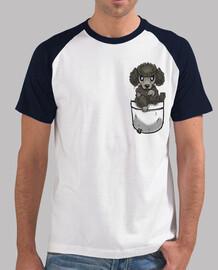 perro caniche lindo de bolsillo - camiseta de béisbol para hombre