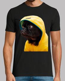 Perro Carlino Pug Chubasquero Amarillo Pelicula It Camiseta Hombre