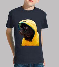 Perro Carlino Pug Chubasquero Amarillo Pelicula It Camiseta niño