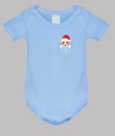 Perro Corgi Pocket Graphic Navidad