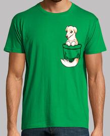 perro lindo borzoi de bolsillo - camisa para hombre