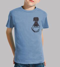 perro lindo de great dane del bolsillo - camisa de los niños