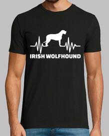 perro lobo irlandés del latido del cora