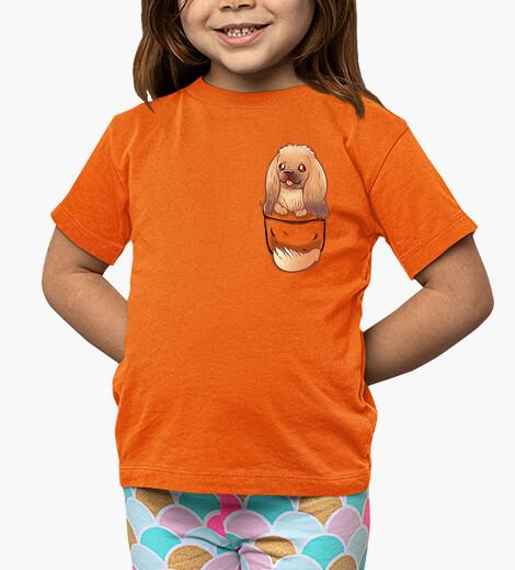 Ropa infantil perro pekingese lindo de bolsillo - camisa para niños