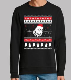 Perro Pomerania Ugly Navidad