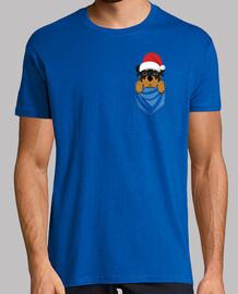 Perro Rottweiler Pocket Graphic Navidad