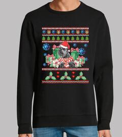 Perro Schnauzer Ugly Navidad