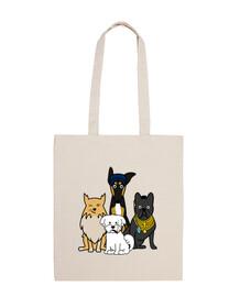 Perros serie equipo A bolso