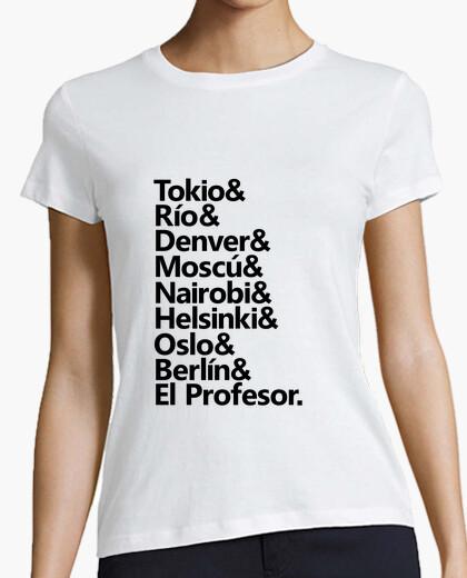 T-shirt personaggi della casa di carta s