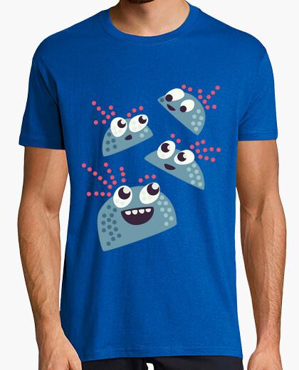 Camiseta personajes de caramelo feliz lindo del kawaii