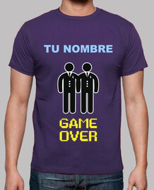 personalized name bachelor party, game over gay read description ** **