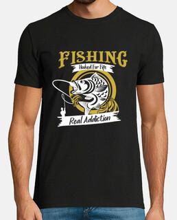Pesca enganchado de por vida - camiseta divertida para pescadores