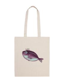 pesce divertente con ciglia fantasiose