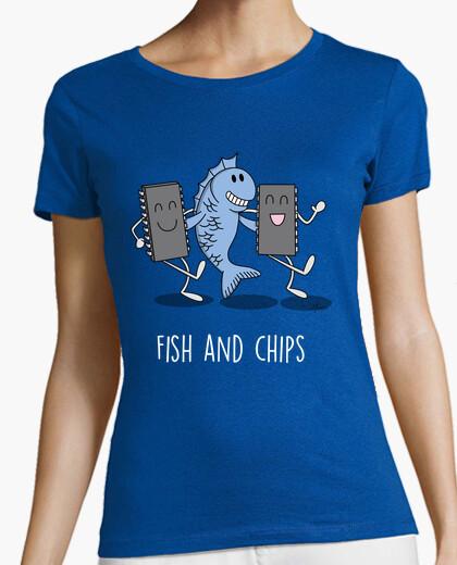 T-shirt pesce e hip s nero