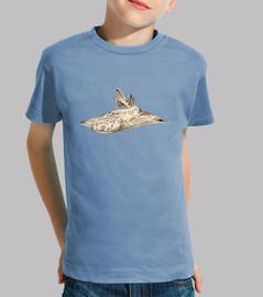 pesci angelo, angelo squalo t-shirt bambino