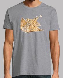 pesci angelo, angelo squalo t-shirt da uomo
