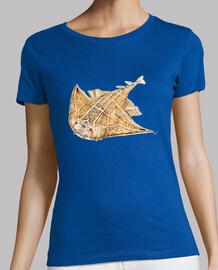 pesci angelo, angelo squalo t-shirt donna