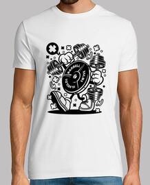 pesi della palestra della t-shirt giovani divertenti del cartoni animati