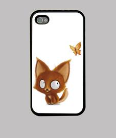 petit renard et papillon - iphone 4