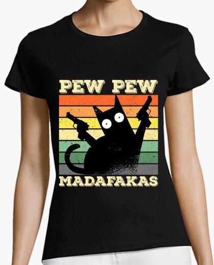 Camiseta Pew Pew Madafakas gato gracioso