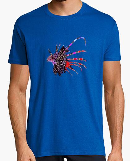 Camiseta Pez León, Peces de Colores... Hombre, manga corta, azul royal, calidad extra