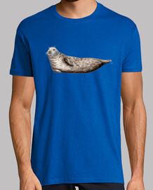 phoque gris  t-shirt  homme