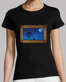 photo avec lune et loup