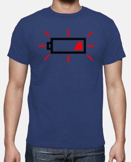 Camisetas Photography low Battery