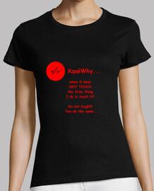 phrase xquewhy nº 53 woman, short sleeve, black, premium quality
