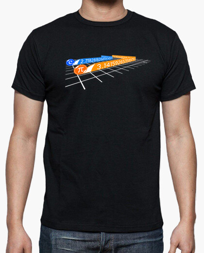 Pi and euler number in tron t-shirt