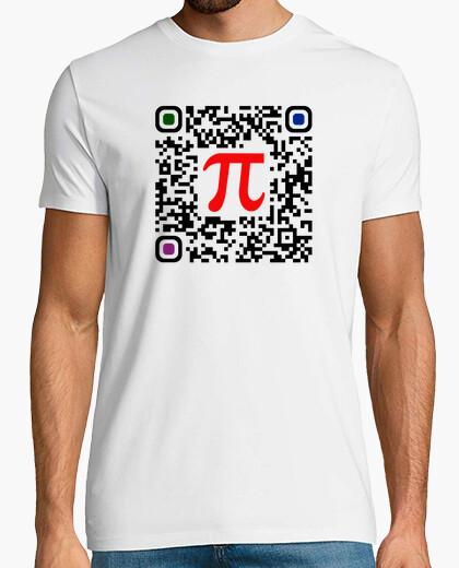 Camiseta Pi codigo QR (50 decimales)