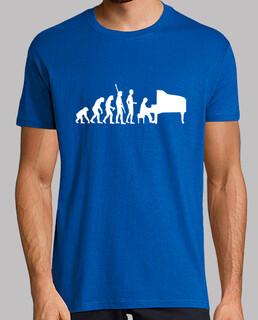 piano evolution blanco camiseta hombre azul