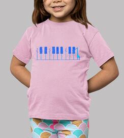 piano girafa azul camiseta niño rosa