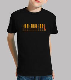 piano girafa naranja camiseta niño negra