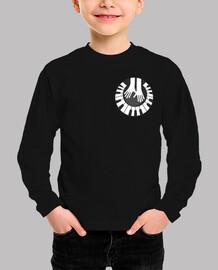 piano manos circulo pequeño camiseta niño pequeña