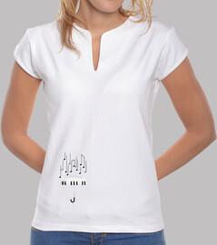 piano paraguas camiseta mujer blanca