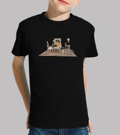 piano partitura camiseta niño negra