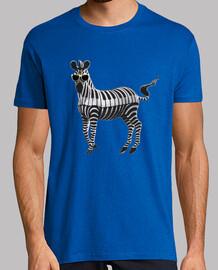 piano zebra 2 camiseta hombre azul