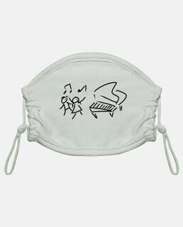 pianoforte per bambini, maschera per bambini