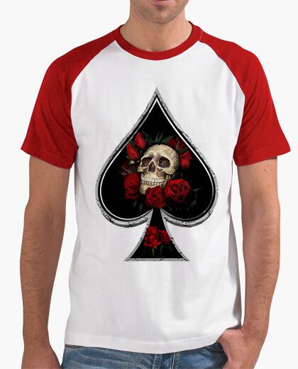 Camiseta Picas - Hombre, estilo béisbol, blanca y roja