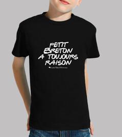 piccolo bretone ha sempre ragione - t-shirt bambino