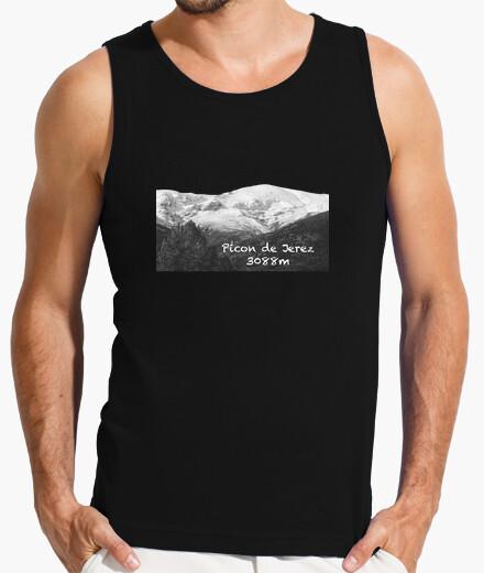 Camiseta Picon tirantes Hombre, sin mangas, negra